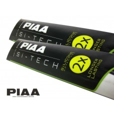PIAA Si-Tech Front Wiper Blades Set - Silicone, Longer Lasting / 600mm; 600mm